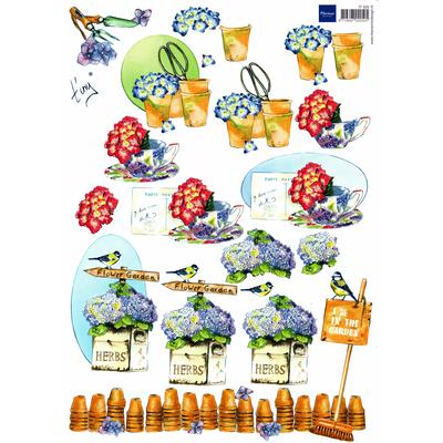 planche d'images pour cartes 3D - A4 - The garden 6