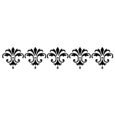 Pochoir bordure motif fleurs de lys - 12,7x40,6cm - Momenta