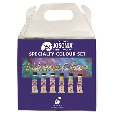 Couleurs Jo Sonja's: set couleurs iridescentes - 6x20ml