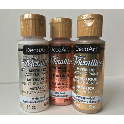 Peinture métallique brillante - Dazzling Metallics - DecoArt - 59ml