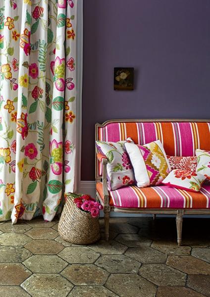 tissu carla tissus par diteur manuel canovas le boudoir des etoffes. Black Bedroom Furniture Sets. Home Design Ideas