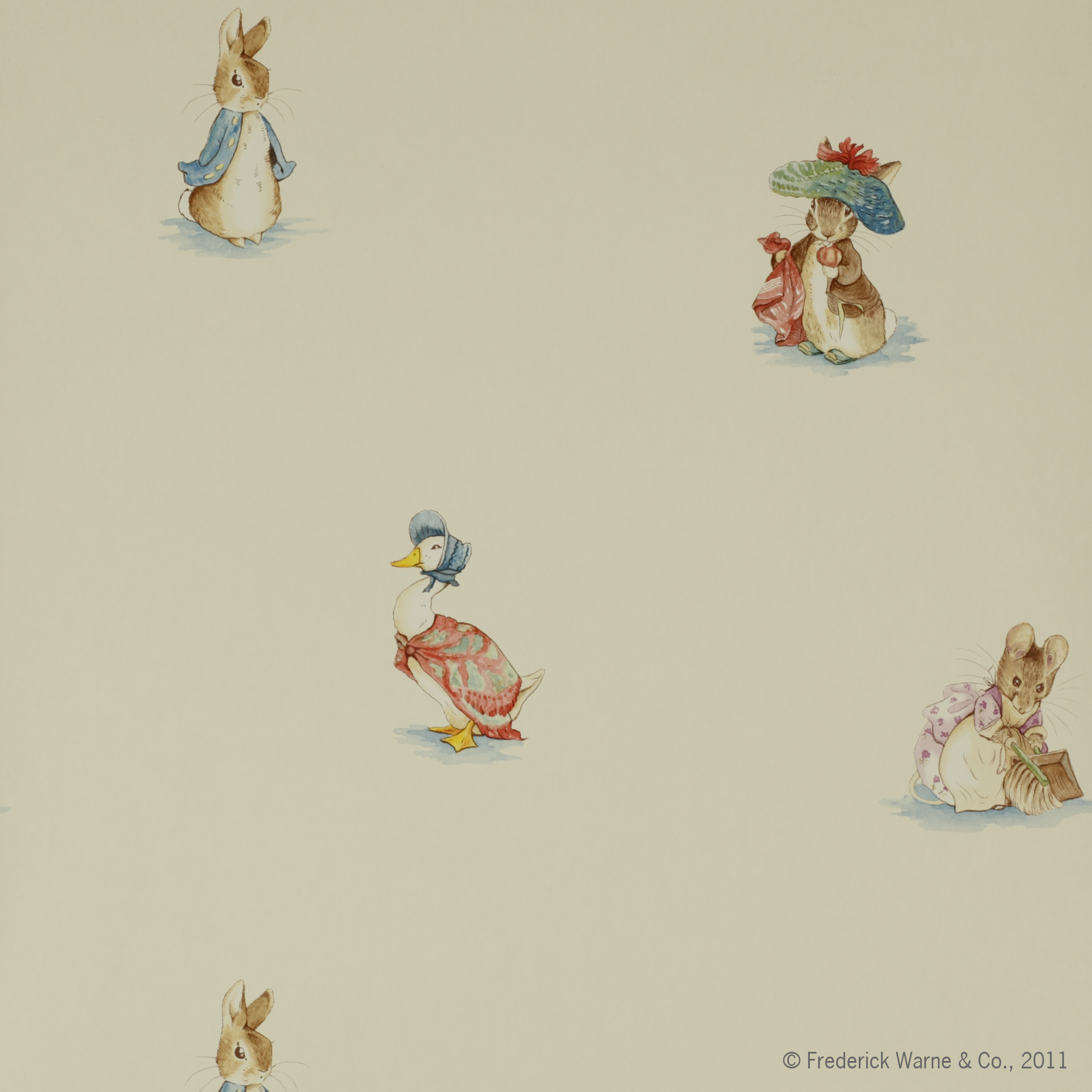 papier peint beatrix potter enfants papiers peints le boudoir des etoffes. Black Bedroom Furniture Sets. Home Design Ideas