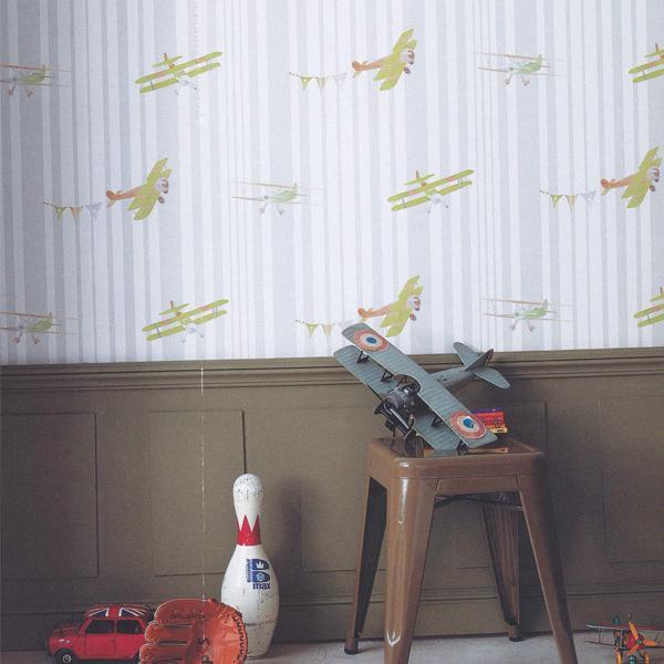 Abracadabra-collection-enfant-camengo-papier-peint-avion-acrobat-visuel