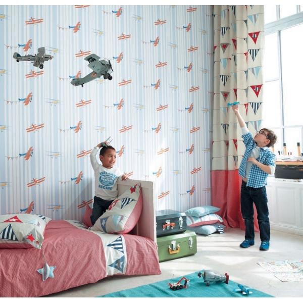 papier peint acrobat enfants tous l 39 univers enfant le boudoir des etoffes. Black Bedroom Furniture Sets. Home Design Ideas
