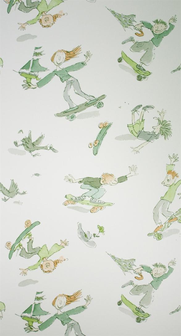 Papier peint skateboarders enfants papiers peints le boudoir des etoffes - Papier peint personnage ...