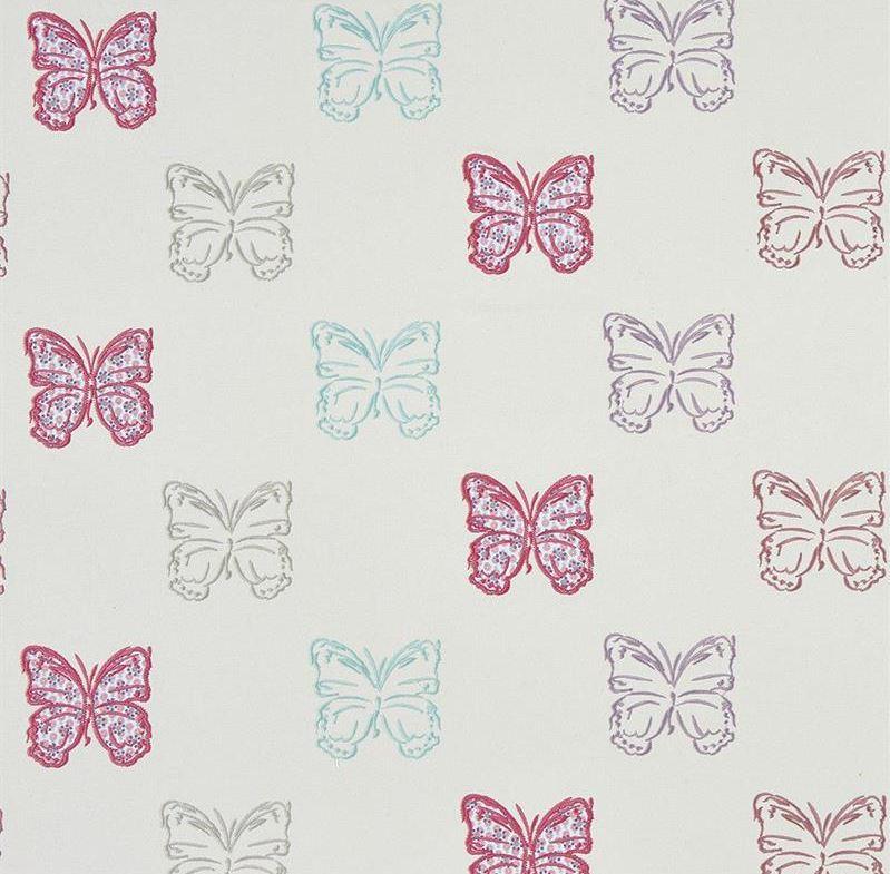 tissu-papillons-filet-parme-collection-enfant-summer-camp-camengo