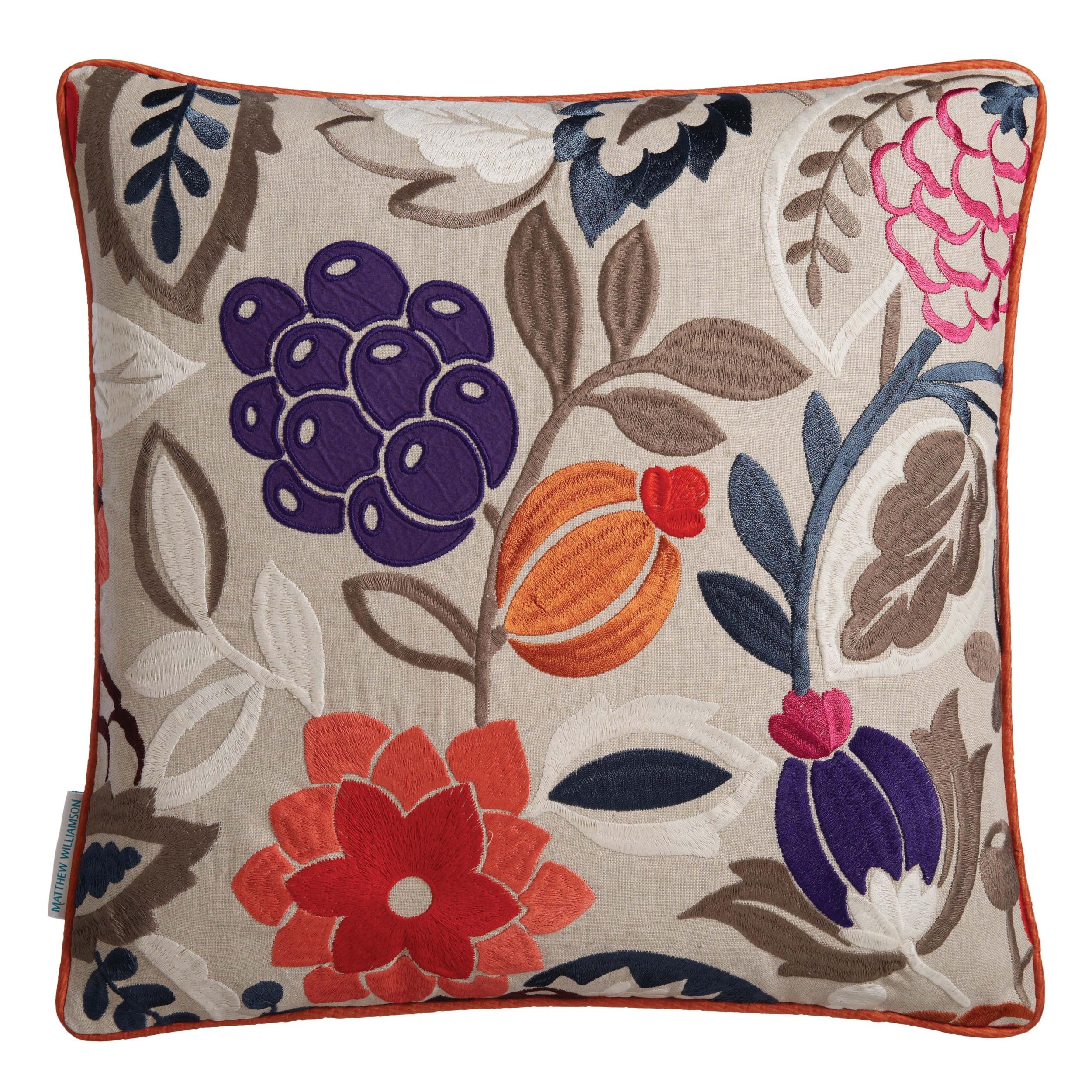 coussin la desirade cerise linen 50x50 coussins matthew williamson le boudoir des etoffes. Black Bedroom Furniture Sets. Home Design Ideas