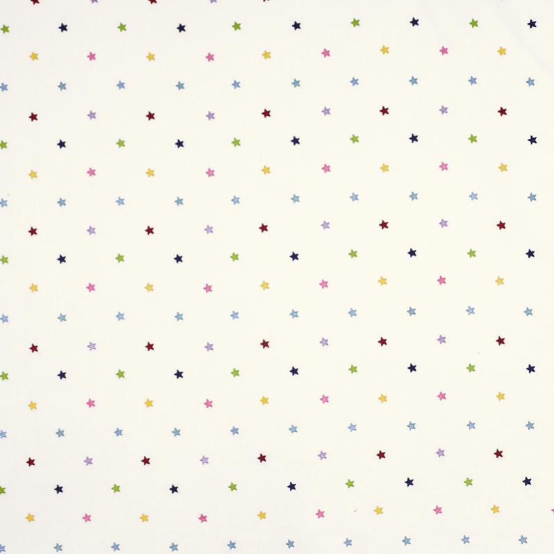 Jane Churchill - Rainbows stars embroderies - beige