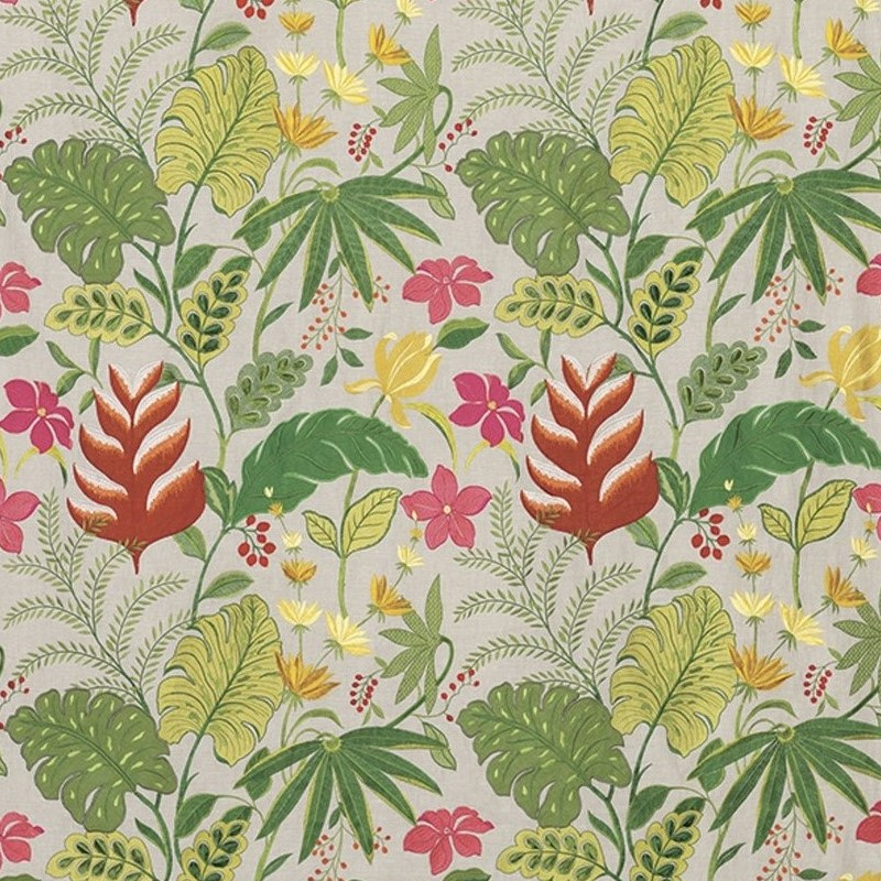 Cubana-Floridita-tissu-fleuris-osborne-and-little-F6796-01