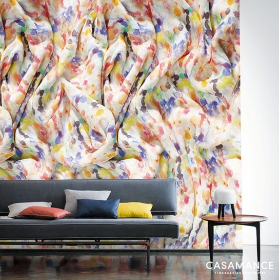 papier peint panoramique etincelle papiers peints par diteurs casamance le boudoir des etoffes. Black Bedroom Furniture Sets. Home Design Ideas