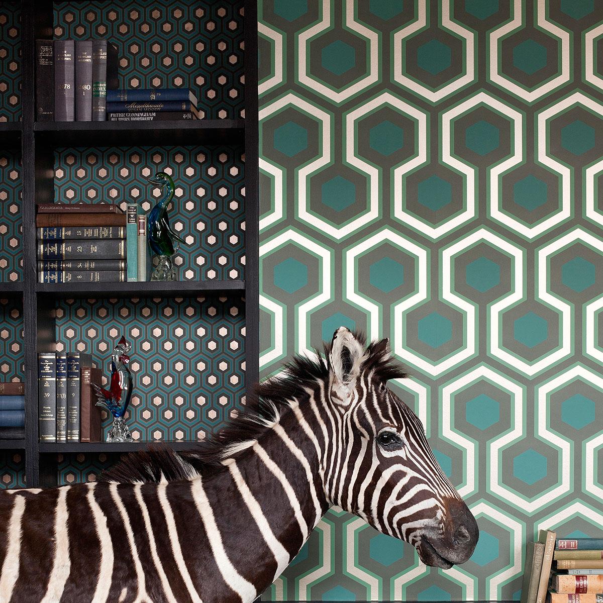 Papier Peint Hicks Hexagon Pas Cher papiers peints par éditeurs - cole and son - le boudoir des