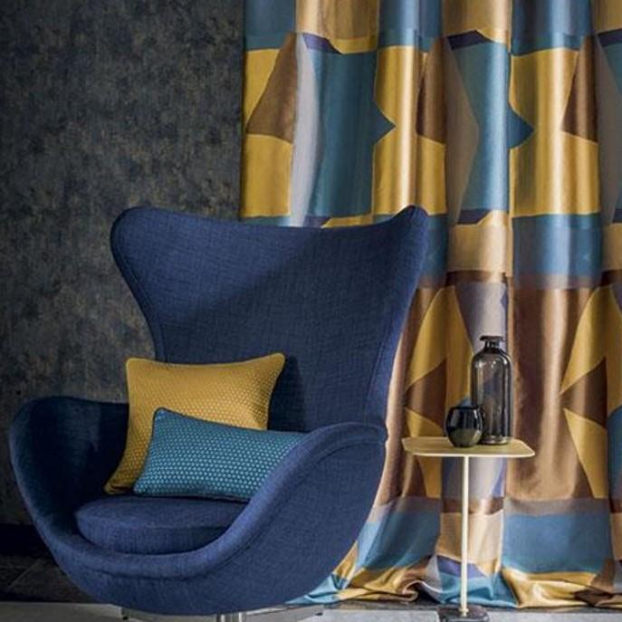 tissu rideaux style art deco