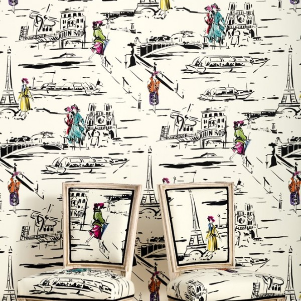 papier peint la parisienne papiers peints par diteurs. Black Bedroom Furniture Sets. Home Design Ideas