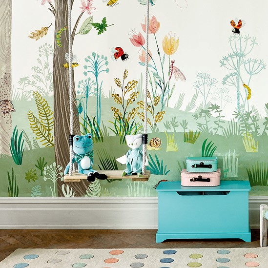 panoramique busy buzzy enfants papiers peints le. Black Bedroom Furniture Sets. Home Design Ideas