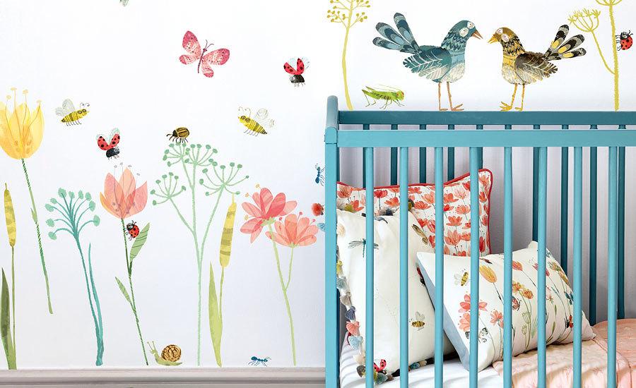 autocollant-mural-enfants-fleurs-insectes-stickers-06