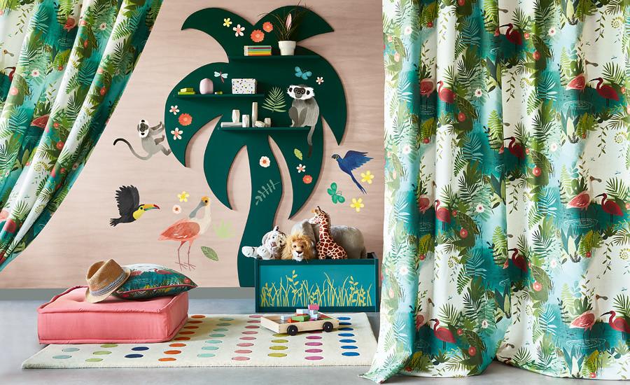 W591-01-jungle-jumble-autocolant-muraux-enfant-jungle-animaux-amazonie