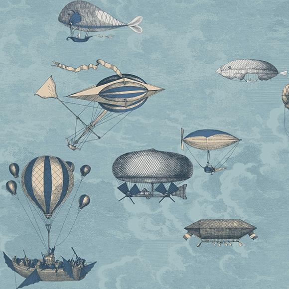 macchine-volanti-papier-peint-cole-and-son-montgolfiere-bleu