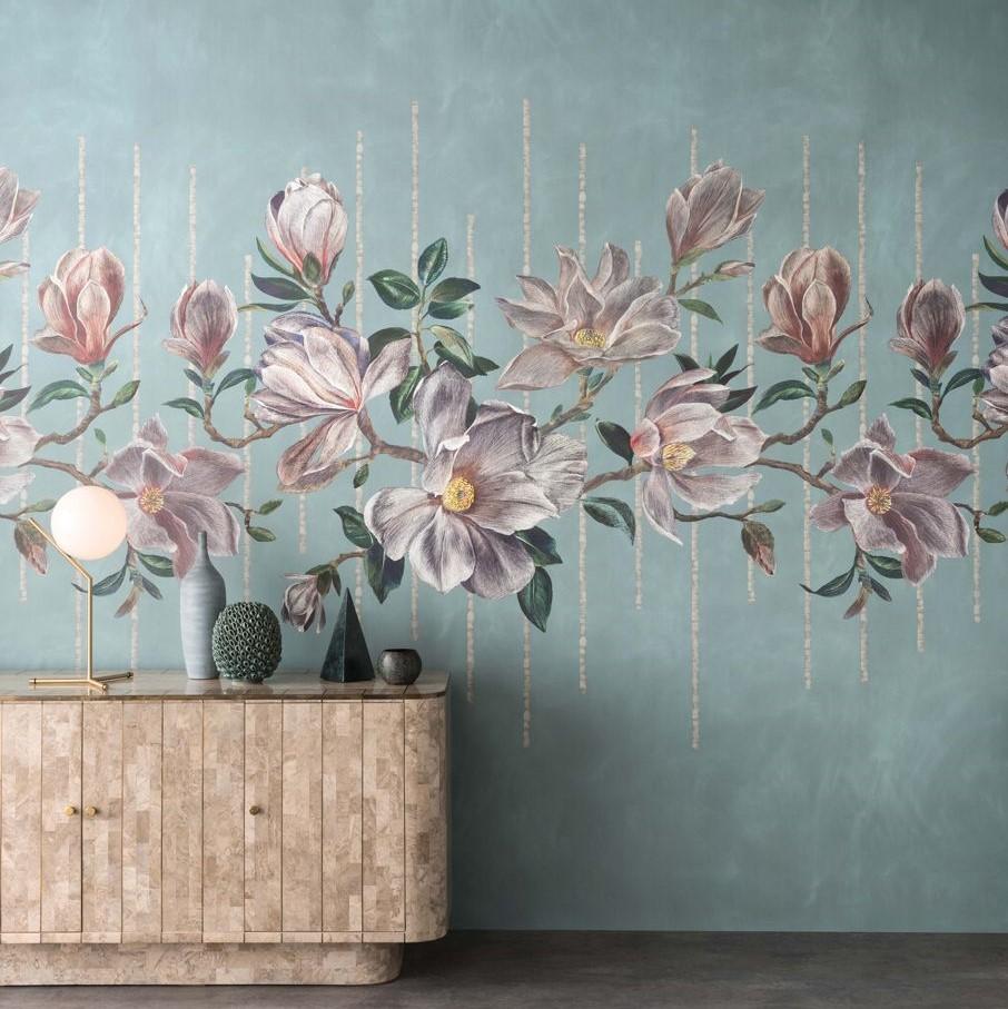 Papier peint panoramique Magnolia Frieze