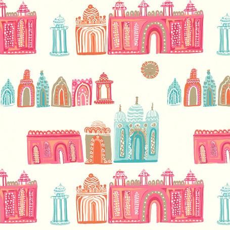 Papier peint Pink City