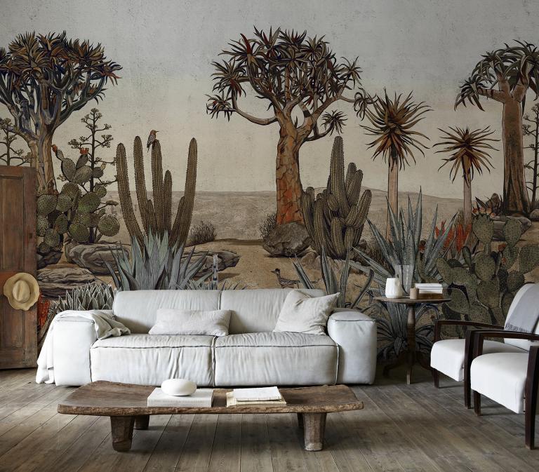 papier peint panoramique cactus desert