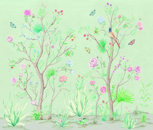 peonies-papier-peint-fleurs-romantiques-vert