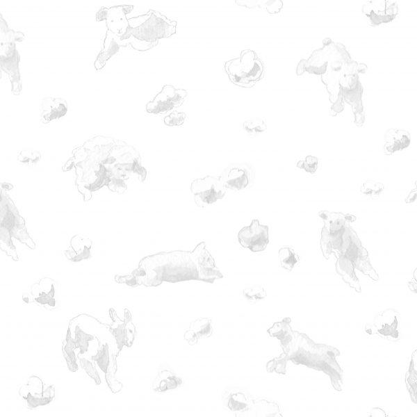 papier-peint-enfant-mouton-ciel-gris