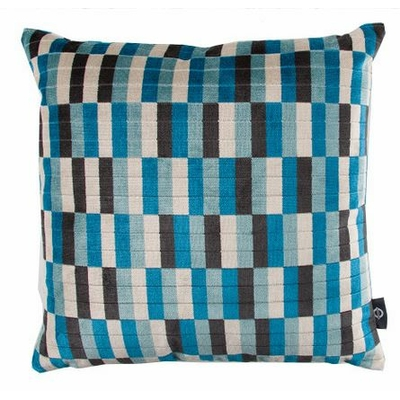 Coussin District bleu