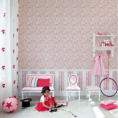 papier peint pop ladybird enfants papiers peints le boudoir des etoffes. Black Bedroom Furniture Sets. Home Design Ideas