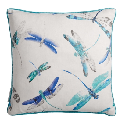 Coussin Dragonfly Dance persian blue/jade 50X50