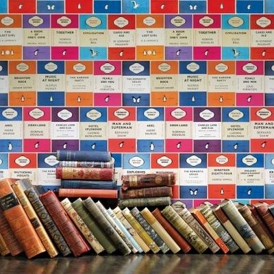 Papier peint Penguin Library