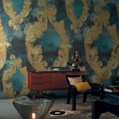Papier peint panoramique Dame Damas