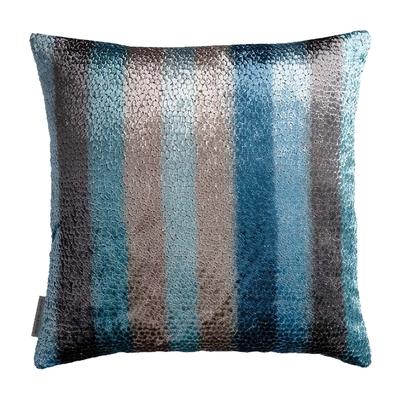 Coussin Eden Stripe bleu 50X50