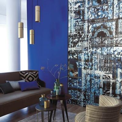 Papier peint panoramique Lotus Bleu