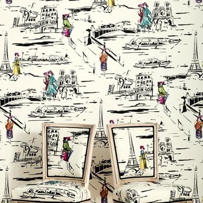 Papier peint La parisienne