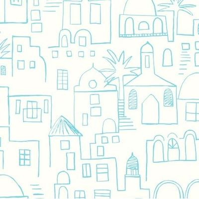 Papier peint Teeny Santorini