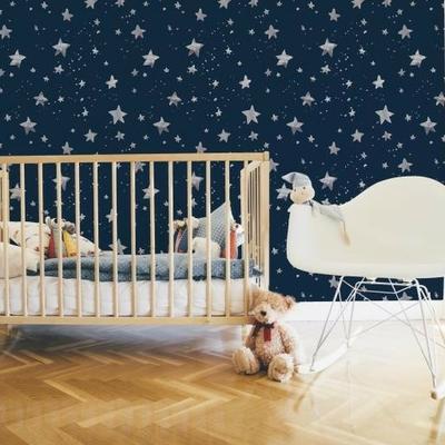 Papier peint étoiles Via Lactea