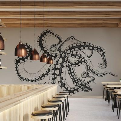 Papier peint panoramique Octopus X-RAY
