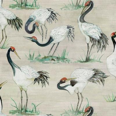 Papier peint oiseaux Cranes