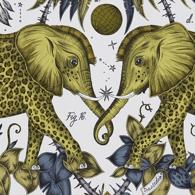 Papier peint éléphants Zambezi