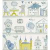 papier-peint-enfant-camengo-summer-camp-bibliotheque-bleu