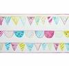 papier-peint-enfant-camengo-summer-camp-frise-guirlande-rose