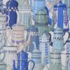 Papier peint canovas paulette bleu