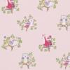 Papier peint-jane churchill-up a tree-pink