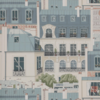 papier peint-les toits de paris-vert de gris