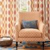 tissu-ammeublement-deco-orange-motif