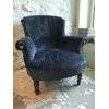 fauteuil-tissu-bleu-velours