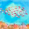 papier-peint-panoramique-enfant-mer-poisson