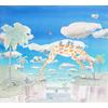 papier-peint-panoramique-enfant-girafe-singe-animaux