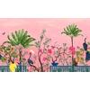 Neo-Tea-Garden-papier-peint-panoramique-exotique-rose