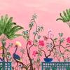neo-tea-garden-papier-peint-fleuri-rose